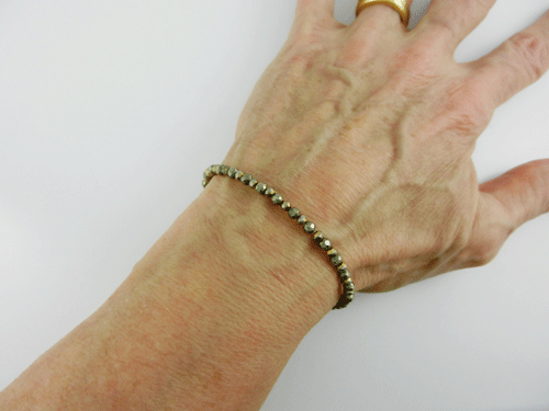 Pyrite And Gold Coated Bracelet