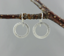 sterling silver earrings, silver earrings, artisan earrings, handmade earrings, handcrafted earrings, handmade silver earrings, handcrafted silver earrings, silver artisan earrings, argentium ear wires, sterling argentium ear wires, sleepers, tiny earrings, sweet dreams collection, sleeper earrings, argentium silver, small hammered circles earrings, oxidized, tiny earrings, little earrings, sleepers, small hammered circles earrings, small hammered circles sleeper earrings, Sharon Joy Designs