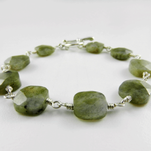 labradorite bracelet, silver bracelet, labradorite and silver bracelet, gemstone jewelry, gemstone bracelet, chakra bracelet, healing bracelet, Reiki bracelet, labradorite beaded bracelet, sterling silver bracelet, square green bead bracelet, Silver Echoes, Mother's Day gift, Christmas gift, birthday gift, Valentines gift, gifts for her, artisan bracelet, handmade bracelet, handcrafted bracelet, healing bracelet, Zen bracelet, energy bracelet, metaphysical bracelet, holistic healing, crystal bracelet, crystal jewelry