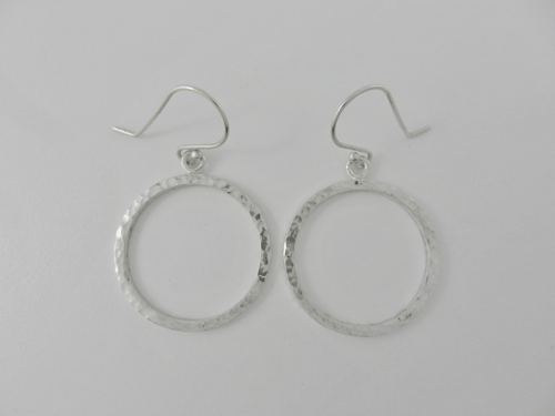 jump rings, silver earrings, silver hoops, medium hoops, hammered silver, handcrafted earrings, handmade earrings, artisan earrings, metalwork, dangle earrings, argentium ear wires