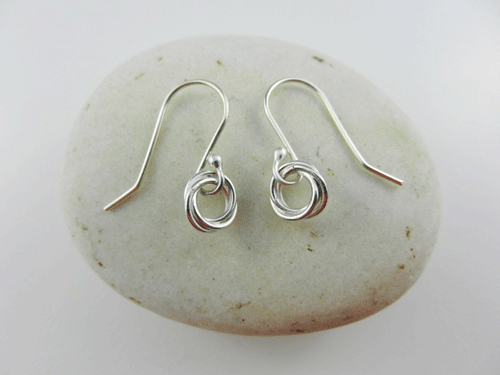 Layered Circles Sterling Silver Earrings Handmade