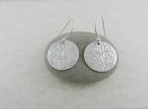 silver earrings, sterling silver earrings, artisan earrings, artisan silver earrings, artisan sterling silver earrings, handmade earrings, handmade silver earrings, handmade sterling silver earrings, handcrafted earrings, handcrafted silver earrings, handcrafted sterling silver earrings, argentium ear wires, argentium silver ear wires, argentium silver, geometric earrings, circle earrings, disc earrings, circular earrings, reticulated silver, reticulated sterling silver, reticulated discs, reticulated earrings, Reticulation Collection, reticulated silver earrings, reticulated sterling silver earrings