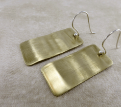 rectangle earrings, brass earrings, geometric earrings, gold earrings, minimalist earrings, lightweight earrings, everyday earrings, drop earrings, dangle earrings, summer earrings, mixed metal earrings, sterling earrings, Silver Echoes simple earrings, everyday earrings, modern earrings, Zen earrings, simple earrings, lightweight silver earrings, artisan earrings, handmade earrings, handcrafted earrings, wedding jewelry, wedding earrings, argentium ear wires Mother's Day gift, birthday gift, Christmas gift, Valentines gift, anniversary gift, gifts for her, Hanukah gift, Kwanza gift, women's earrings, women's jewelry, bridal earrings, bridal jewelry, rectangle earrings, gypsy earrings