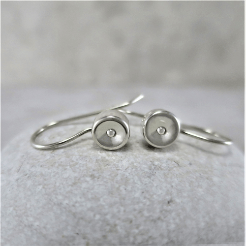 fat circles, sleeper earrings, silver earrings, sterling earrings, circle earrings, tiny earrings, small drop earrings, dangle earrings, small earrings, minimalist earrings, modern earrings, lightweight earrings, everyday earrings, artisan earrings, Zen earrings, favorite earrings, go to earrings, handmade earrings, handcrafted earrings, Silver Echoes New Year's gift, Valentine's gift, Valentines gift, birthday gift, Mother's Day gift, Mothers Day gift, anniversary gift, wedding gift, Christmas gift, Hanukah gift, Kwanza gift, gift for her, gifts for her, gift for wife bridesmaid gift, bridesmaid earrings, flower girl earrings, flower girl gift, wedding earrings, wedding jewelry, bridal earrings, bridal jewelry, mother of the bride earrings