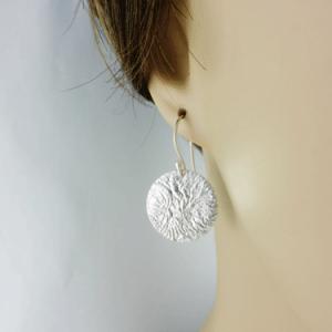silver earrings, sterling silver earrings, artisan earrings, artisan silver earrings, artisan sterling silver earrings, handmade earrings, handmade silver earrings, handmade sterling silver earrings, handcrafted earrings, handcrafted silver earrings, handcrafted sterling silver earrings, argentium ear wires, argentium silver ear wires, argentium silver, geometric earrings, circle earrings, disc earrings, circular earrings, reticulated silver, reticulated sterling silver, reticulated discs, reticulated earrings, Reticulation Collection, reticulated silver earrings, reticulated sterling silver earrings