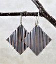 Copper Earrings ~ Geometric Earrings ~ Dangle Earrings ~ Square Earrings ~ Drop Earrings ~ Zen Earrings ~ Rustic Earrings ~ Summer Earrings 5