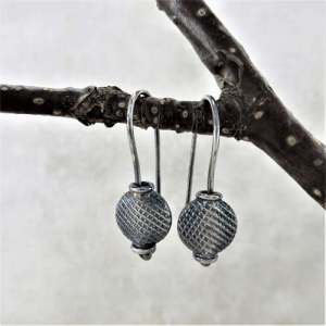 honeycomb earrings, sleeper earrings, silver earrings, sterling earrings, flower earrings, nature earrings, tiny earrings, small drop earrings, dangle earrings, small earrings, minimalist earrings, modern earrings, lightweight earrings, everyday earrings, artisan earrings, Zen earrings, favorite earrings, go to earrings, handmade earrings, handcrafted earrings, Silver Echoes New Year's gift, Valentine's gift, Valentines gift, birthday gift, Mother's Day gift, Mothers Day gift, anniversary gift, wedding gift, Christmas gift, Hanukah gift, Kwanza gift, gift for her, gifts for her, gift for wife bridesmaid gift, bridesmaid earrings, flower girl earrings, flower girl gift, wedding earrings, wedding jewelry, bridal earrings, bridal jewelry, mother of the bride earrings