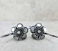 large petal flower earrings, silver earrings, sterling earrings, sleeper earrings, nature earrings, nature earrings, small drop earrings, dangle earrings, minimalist earrings, Zen earrings, lightweight earrings, everyday earrings, argentium silver earrings, tiny earrings, small earrings, modern earrings, organic earrings, favorite earrings, playful earrings, handmade earrings, handcrafted earrings, artisan earrings, Silver Echoes bridesmaid gift, wedding gift, bridesmaid earrings, wedding earrings, flower girl gift, flower girl earrings, bridal earrings, wedding earrings, bridal jewelry, wedding jewelry, mother of the bride gift, mother of the bride earrings, mother of the bride jewelry wedding gift, anniversary gift, birthday gift, New Year's gift, Valentine's gift, Valentines gift, Mother's Day gift, Mothers Day gift, Christmas gift, Hanukah gift, Kwanza gift, gifts for her, gifts for wife
