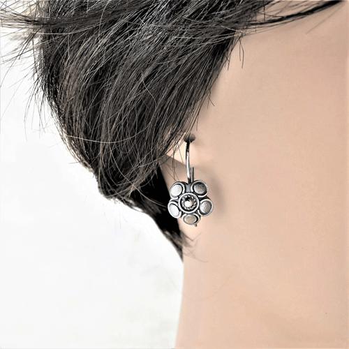large petal flower earrings, silver earrings, sterling earrings, sleeper earrings, nature earrings, nature earrings, small drop earrings, dangle earrings, minimalist earrings, Zen earrings, lightweight earrings, everyday earrings, argentium silver earrings, tiny earrings, small earrings, modern earrings, organic earrings, favorite earrings, playful earrings, handmade earrings, handcrafted earrings, artisan earrings, Silver Echoes bridesmaid gift, wedding gift, bridesmaid earrings, wedding earrings, flower girl gift, flower girl earrings, bridal earrings, wedding earrings, bridal jewelry, wedding jewelry, mother of the bride gift, mother of the bride earrings, mother of the bride jewelry wedding gift, anniversary gift, birthday gift, New Year's gift, Valentine's gift, Valentines gift, Mother's Day gift, Mothers Day gift, Christmas gift, Hanukah gift, Kwanza gift, gifts for her, gifts for wife