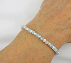 aquamarine bracelet, layering bracelet, March birthstone, birthstone bracelet, blue bracelet, silver bracelet, sterling bracelet, gemstone bracelet, healing bracelet, Reiki bracelet, Silver Echoes, , wedding bracelet, bridal bracelet, wedding jewelry, bridesmaid gift, brides bracelet, Reiki bracelet, energy bracelet, healing bracelet, crystal bracelet, gemstone jewelry, chakra jewelry, Mother's Day gift, Valentines gift, Christmas gift, birthday gift, anniversary gift, Hanukkah gift, gift for her, artisan bracelet, handmade bracelet, handcrafted bracelet, artisan jewelry, spiritual jewelry, new age bracelet