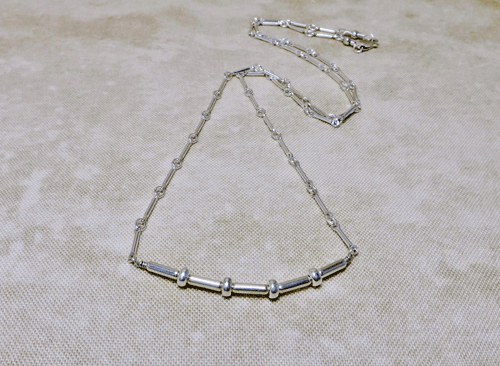 Silver Necklace ~ Dots and Dashes 18812753c