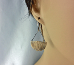 bronze earrings, half moon earrings, silver earrings, mixed metal earrings, dangle earrings, large drop earrings, rustic earrings, primitive earrings, geometric earrings, statement earrings, disc earrings, simple earrings, Silver Echoes artisan earrings, sterling earrings, boho earrings, circle earrings, half circle earrings, casual earrings, summer earrings, handmade earrings, handcrafted earrings, minimalist earrings, modern earrings, everyday earrings, lightweight earrings New Year gift, Valentine gift, birthday gift, Mother's day gift, anniversary gift, Christmas gift, Kwanza gift, Hanukah gift, bridesmaid gifts, gifts for her, gifts for women, Zen earrings, grounding earrings, earth earrings, energy earrings