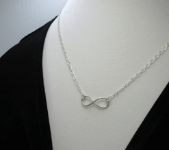 infinity necklace, silver necklace, sterling necklace, silver chain necklace, slender necklace, layering necklace, eternity necklace, friendship necklace, tiny necklace, best friend necklace, sweetheart necklace, modern necklace, Silver Echoes Zen necklace, peace necklace, power necklace, healing necklace, chakra necklace, artisan necklace, everyday necklace, lightweight necklace, elegant necklace, statement necklace, bridesmaid gift, flower girl necklace, flower girl gift, infinity jewelry wedding necklace, wedding gift, anniversary gift, birthday gift, Christmas gift, Hanukah gift, Kwanza gift, Valentine's gift, Valentines gift, Mother's Day gift, mothers day gift, gifts for her, bridesmaid necklace, wedding necklace, bridal necklace