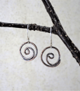 Copper Earrings ~ Spiral Earrings ~ Rustic Earrings ~ Dangle Earrings ~ Everyday Earrings ~ Small Drop Earrings ~ Lightweight Earring 5