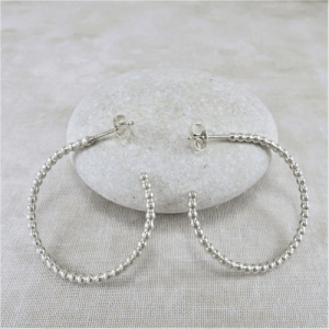 hoop earrings, silver earrings, sterling earrings, stud earrings, post earrings, beaded hoop earrings, beaded stud earrings, beaded post earrings, lightweight earrings, elegant earrings, everyday earrings, modern earrings, minimalist earrings, Zen earrings, gypsy earrings, boho earrings, bohemian earrings, hippy earrings, circle earrings, geometric earrings, artisan earrings, handmade earrings, handcrafted earrings, simple earrings, favorite earrings, Silver Echoes bridesmaid gift, bridesmaid earrings, wedding gift, wedding earrings, wedding jewelry, bridal earrings, bridal jewelry, New Years gift, Valentine's gift, Valentines gift, Mother's Day gift, Mothers Day gift, birthday gift, anniversary gift, Christmas gift, Hanukah gift, Kwanza gift, gifts for her, gifts for wife, engagement gift