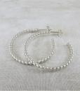 Silver Earrings ~ Beaded Hoop Earrings ~ Post Earrings ~ Stud Hoops ~ Sterling Earrings ~ Stud Earrings ~ Lightweight Earrings ~ Zen Earrings 5