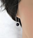 Amethyst Earrings ~ Dangle Earrings ~ February Birthstone Earrings ~ Zen Earrings ~ Purple Earrings ~ Gemstone Earrings ~ Drop Earrings 2
