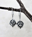 Silver Earrings ~ Sleeper Earrings ~ Small Rose Earrings ~ Small Drop Earrings ~ Sterling Earrings ~ Minimalist Earrings ~ Silver Sleepers 5