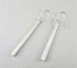 silver stick earrings, sterling silver bar earrings, hammered silver earrings, circle earrings, disc earrings, geometric earrings, drop earrings, dangle earrings, minimalist earrings, lightweight earrings, modern earrings, hippy earrings, simple earrings, everyday earrings, statement earrings, unique earrings, edgy earrings, Silver Echoes artisan earrings, hammered earrings, handcrafted earrings, simple earrings, Zen earrings, boho earrings, gypsy earrings, argentium ear wires, elegant earrings, nickel free silver earrings bridesmaid gift, bridesmaid earrings, wedding gift, wedding earrings, wedding jewelry, bridal earrings, bridal jewelry, mother of the bride earrings, mother of the bride jewelry New Years gift, Valentine's gift, Mother's Day gift, birthday gift, anniversary gift, Christmas gift, Hanukah gift, Kwanza gift, gifts for her, gifts for wife, engagement gift
