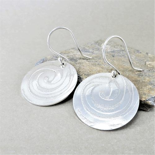 Hammered Silver Dangle Earrings Simple Birthday Gift for Her Minimalist Silver Dangle Earrings Sterling Silver Earrings Handmade